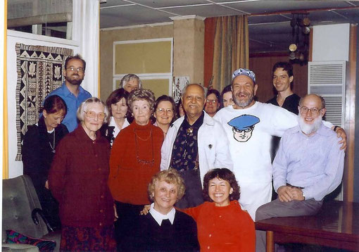 Bhau's visit to Betty's  ( standing left of Bhau )