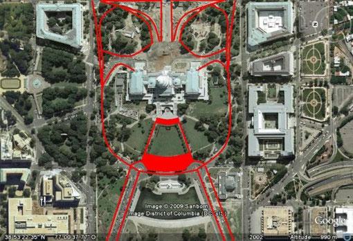 Représentation de Moloch dans les plans de Washington DC