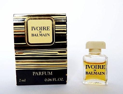 IVOIRE : PARFUM 2 ML - DANS PETITE BOÎTE A RABAT, CONTENANCE INSCRITE SUR LA BOÎTE