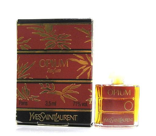 OPIUM - PARFUM 3,5 ML : PRESENTATION DANS BOÎTE A RABAT