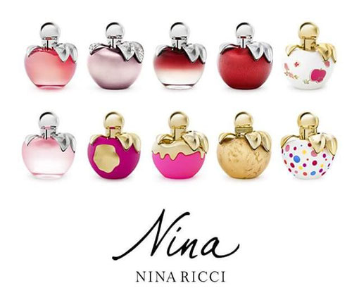 "NINA RICCI - NINA : LES DIFFERENTES VERSIONS DU FLACON ""POMME"" - PHOTO DE PRESSE"