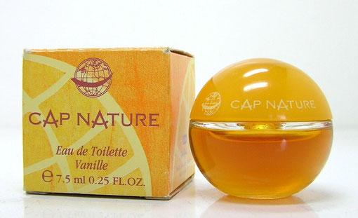 CAP NATURE - EAU DE TOILETTE VANILLE 7,5 ML - FLACON FORME BOULE : MINIATURE IDENTIQUE A LA PHOTO PRECEDENTE