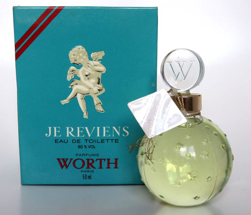 WORTH - JE REVIENS : EAU DE TOILETTE 50 ML : FLACON BOULE ETOILEE - CREATION LALIQUE