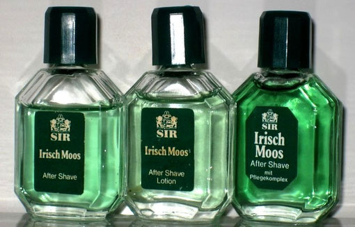 SIR IRISCH MOSS : AFTER SHAVE LOTION : 3 MINIATURES DIFFERENTES