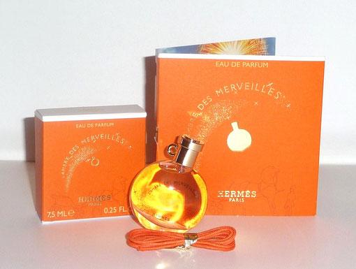 2012 - L'AMBRE DES MERVEILLES - EAU DE PARFUM 7,5 ML : MINIATURE-PENDENTIF  & ECHANTILLON