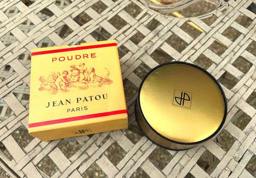 "JEAN PATOU - PETITE BOÎTE A POUDRE DOREE, SOUS DOUBLE BOÎTE - ""MOMENT SUPRÊME"""