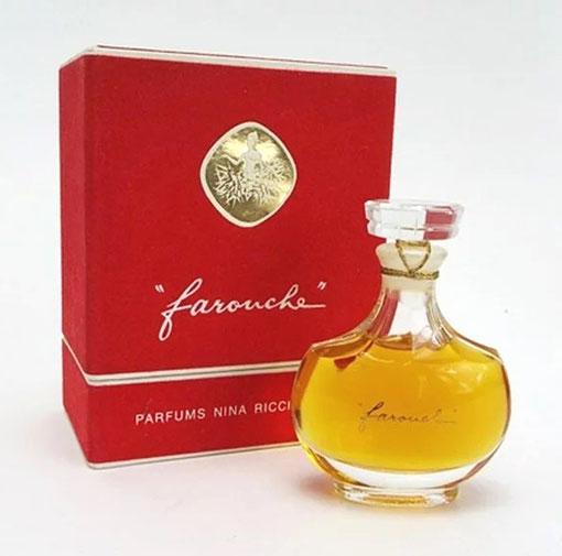 FAROUCHE - FLACON CRISTAL LALIQUE - PARFUM 30 ML, SORTI DE SA BOÎTE VELOUTINE ROUGE