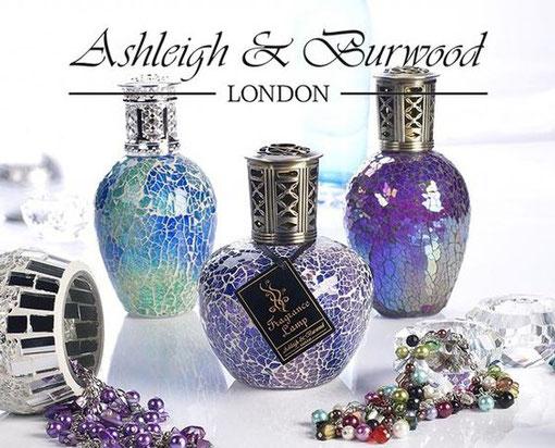 ASHLEIGH & BURWOOD LONDON : CELEBRE MARQUE ANGLAIS DE LAMPES A PARFUMER, BRÛLE-PARFUMS