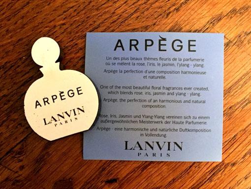 JEANNE LANVIN - ARPEGE : VERSO DE LA CERAMIQUE
