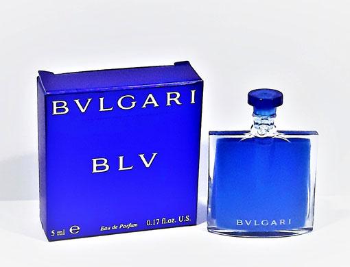 BVLGARI - BLV : EAU DE PARFUM 5 ML - MINIATURE AVEC BOUCHON PLASTIQUE BLEU