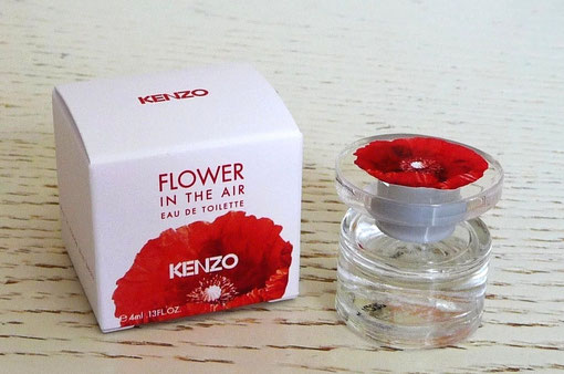FLOWER IN THE AIR - EAU DE TOILETTE 4 ML - BOUCHON ROND TRANSPARENT AVEC COQUELICOT SUR BASE GRISE