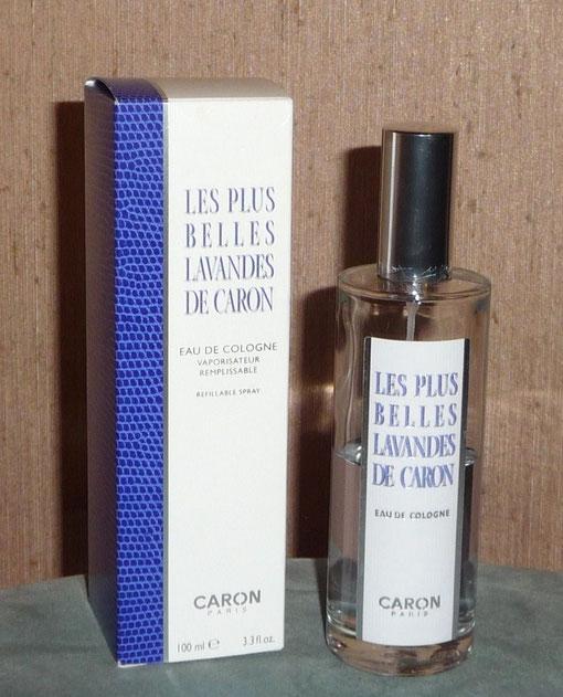 LES PLUS BELLES LAVANDES DE CARON - FLACON VAPORISATEUR EAU DE COLOGNE 100 ML