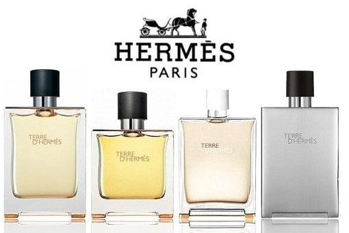 TERRE D'HERMES - LA SERIE DES DIFFERENTS FLACONS