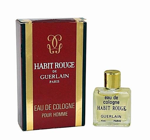 HABIT ROUGE - EAU DE COLOGNE POUR HOMME 4 ML - PRESENTATION ANCIENNE DIFFERENTE