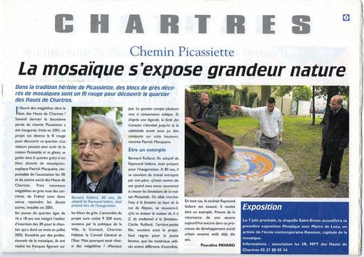 Article paru dans l'hebdo de Chartres et du Pays Chartrain N°29 - Mercredi 28 mai 2003