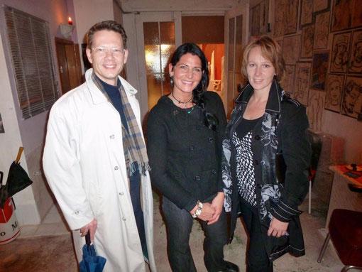 Steff Bauer mit Monika und Sebastian Remelé