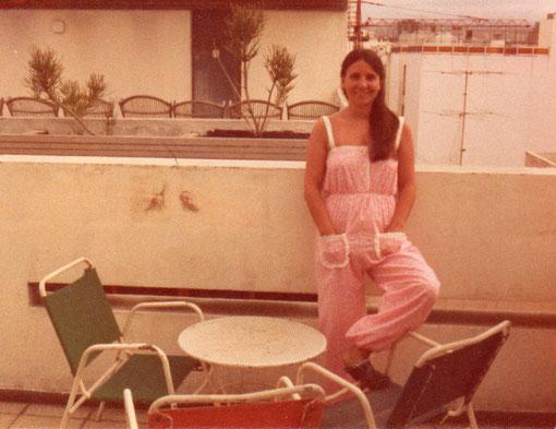 En la terraza del hotel. Las Palmas.