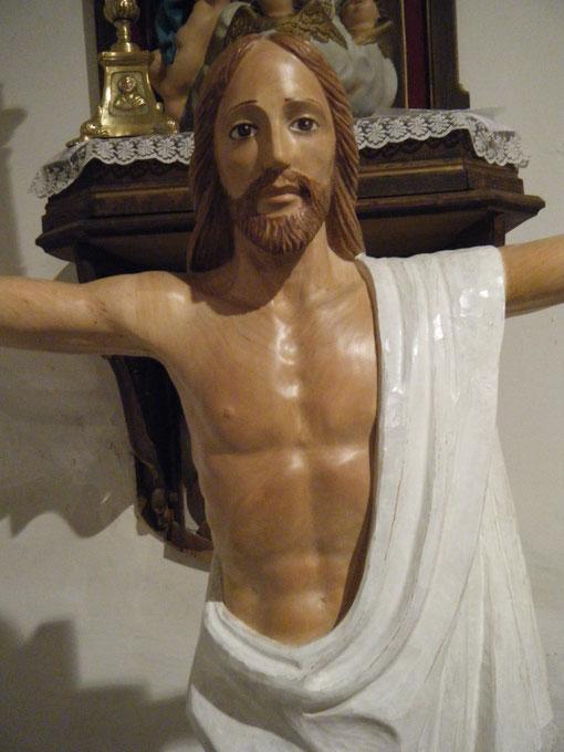 ¡ El Cristo de la Puebla  ! Talla en madera de abedul de Sánchez Puebla. F. P. Privada.