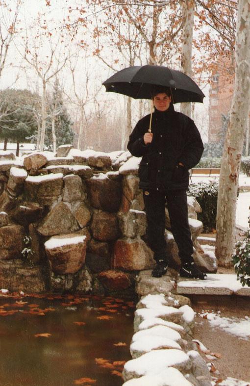 Preciosa nevada en Madrid. F. Pedro.
