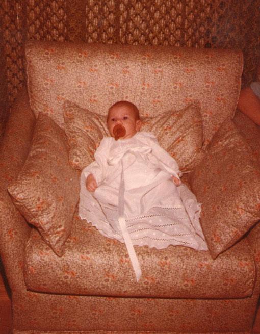 Vestido para el bautismo.