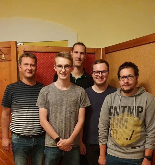 v.l.: GL Ing. Leopold Deimel, Lorenz Hofbauer, Markus Marchsteiner, Dominik Stöger, Thomas Wurth