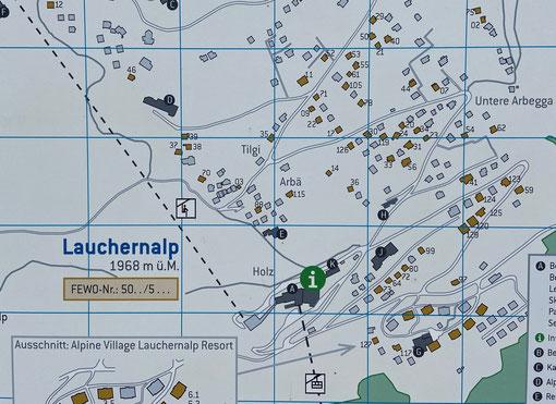 Lage des Chalet Agnes auf der Lauchernalp im Wallis