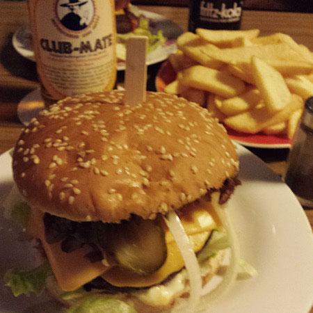 vegan burger Mosaiksteine