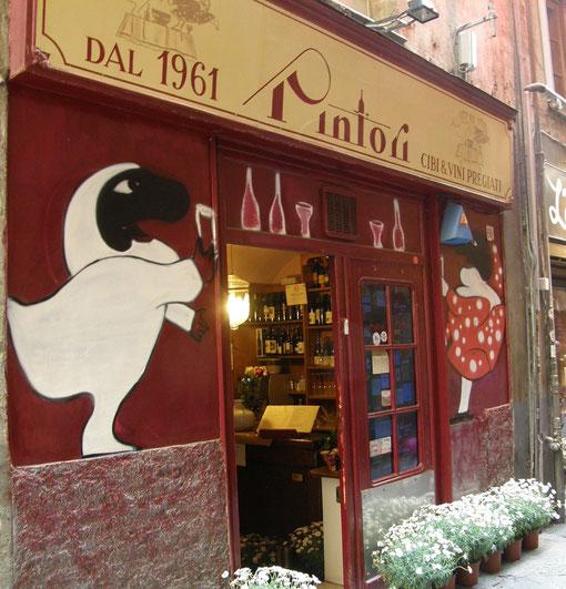 Immagine dell'ingresso del ristorante Pintori, Genova