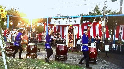 寧鼓座 奈良 和太鼓 中山町夏祭り