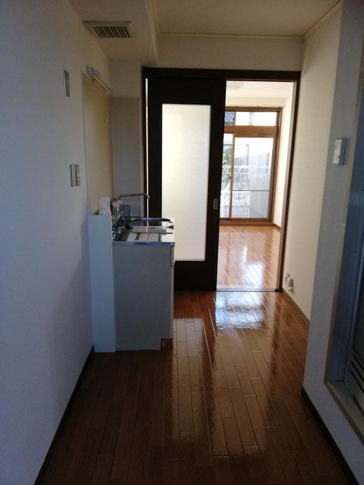 高崎市賃貸アパート1Kの空室クリーニング後の写真。