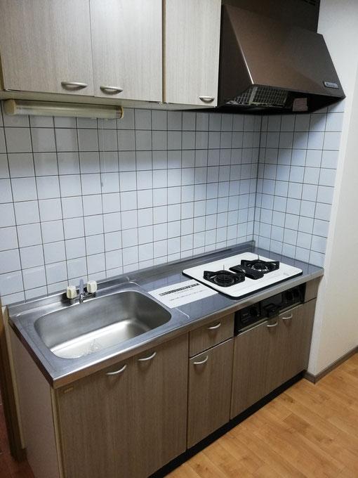 1Kロフト付きの賃貸アパート空室クリーニングの施工後写真です。