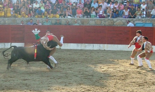 Filipe Redondo em Los Santos num toiro Mateos com uma 1ª de Tiago Cabaceira