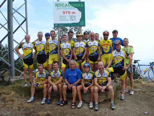 Tots els participants a dalt a Rocacorba
