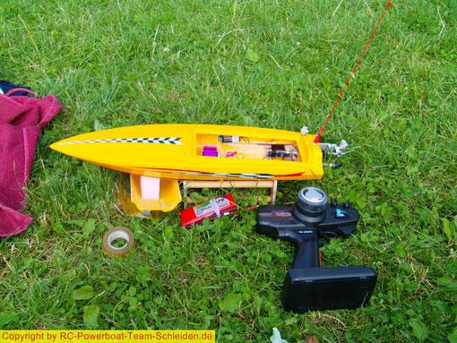 Die Speed Star von MHZ bei der ersten Testfahrt, rennt schon sehr gut, da muss noch einiges geendert werden.
