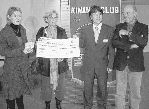 15/11/2009 Chèque à l'association Kangourou