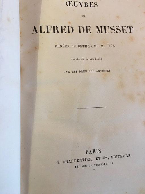 Œuvres d'Alfred de Musset