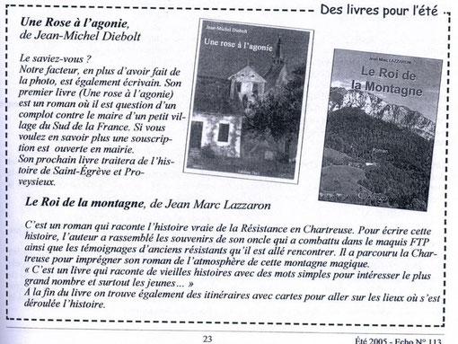 L'ECHO de Proveysieux (38120) - été 2005