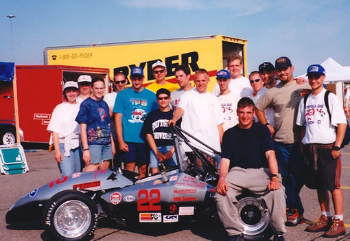 The 1998 Rutgers University Formula SAE team