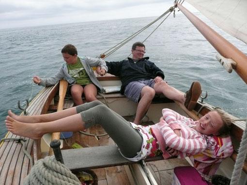 un petit peu de vent dans le nord de tomé, c'est trop dur la voile traditionnelle