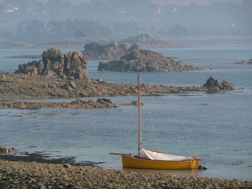 le dériveur, c'est super pour  naviguer à Port-Blanc