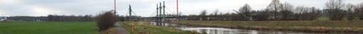 """Baustelle der A30 Nordumgehung Pylonenbrücke über die """"Werre"""""""