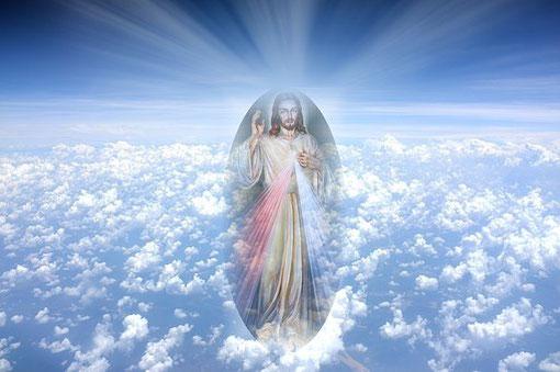Jesus Christus über den Wolken