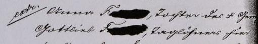 """""""extr. [= extrahiert] Anna F., Tochter des [verstorbenen] Georg Gottlieb F., Taglöhner hier..., Quelle: StaNt: Protokoll der Armendeputation vom 07.06.1907, §. 184"""