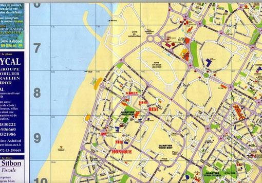 Localisation des locations au quartier Youd Alef