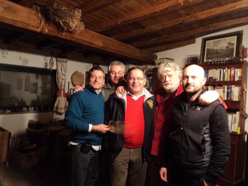 Da sinistra: Stefano Plescia, Fausto Cominato, Loris Mazzoletti, Luigi Pecchia e Fabio Zidaric