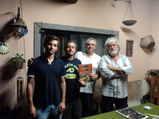 Da sinistra: Edoardo Plescia, Stefano Plescia, Fausto Cominato e Luigi Pecchia