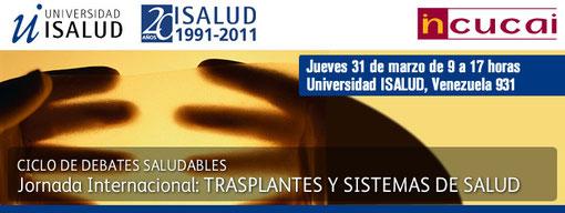 Entrada libre y gratuita previa confirmación de asistencia en informes@isalud.edu.ar ó en el 5239-4000 (internos 4022/4110)