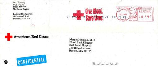 Se agradece a la Dra. Margot Kruskall, haber remitido esta exelente pieza postal de su correspondencia al CRIHeFi, Noviembre de 1992.