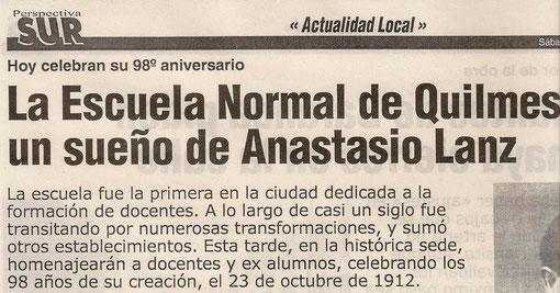 Artículo publicado el Sábado 23 de Octubre de 2010.