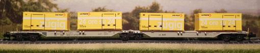 Doppio pianale container - SBB - Hobbytrain